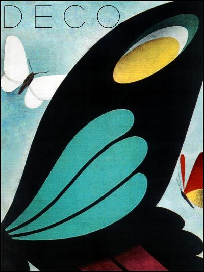 Deco Butterfly--Giclee Print