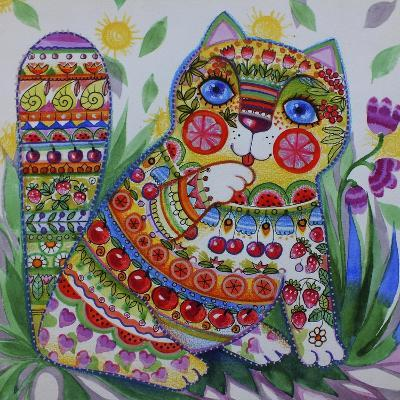 Deco Cat-Oxana Zaika-Giclee Print