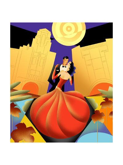 Deco Couple Ca-Sergio Baradat-Giclee Print