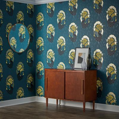 Deco Peacock Pacific Self-Adhesive Wallpaper