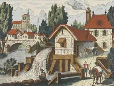 Décor champêtre : le moulin--Giclee Print