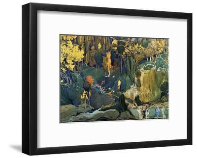 Décor for Debussy's Ballet L'Apres-Midi D'Un Faune (The Afternoon of a Fau), 1912-Leon Bakst-Framed Giclee Print