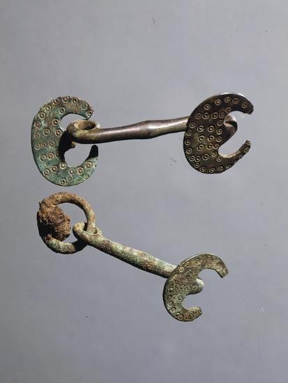 Decorated Bronze Horse Bits--Giclee Print