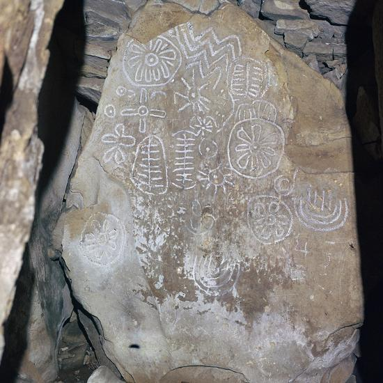 Decorated Celtic slab, 32nd century BC-Unknown-Giclee Print