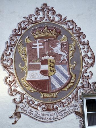 Decorated Facade in Kremsbrueke, Innerkrems, Carinthia, Austria--Framed Giclee Print