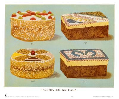 Decorated Gateaux, Occasion--Art Print