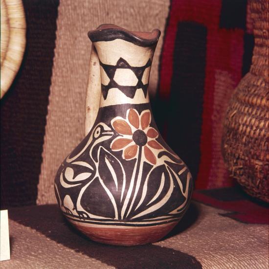 Decorated Pot, Zuni Tribe, Pueblo Indians. North America-Unknown-Giclee Print