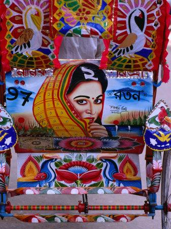 Decorated Rickshaw, Dhaka, Dhaka, Bangladesh-Richard I'Anson-Photographic Print