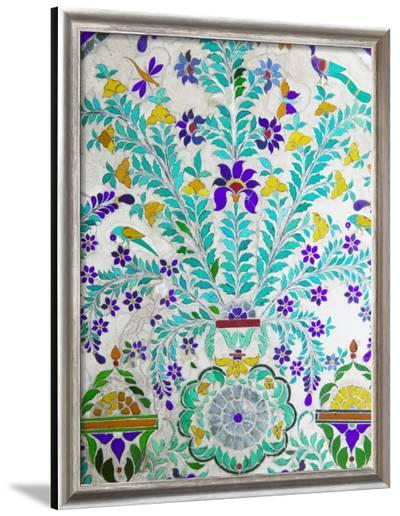 Decorated Tile Painting at City Palace, Udaipur, Rajasthan, India-Keren Su-Framed Photographic Print