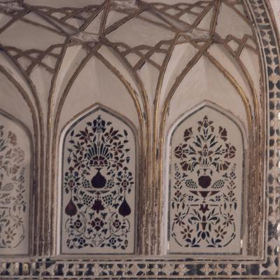 Decoration of Hall of Private Audience in Amer Fort in Jaipur, Rajasthan, India--Giclee Print