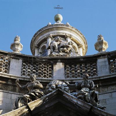Decoration on Facade of Church of St, Agatha's Abbey--Giclee Print