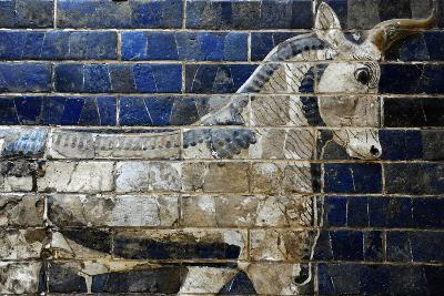 Decoration with Aurochs and Dragons in the Ishtar Gate. 6th Century BC. Babylon--Photographic Print