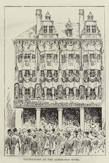 Decorations at the Albemarle Hotel--Giclee Print