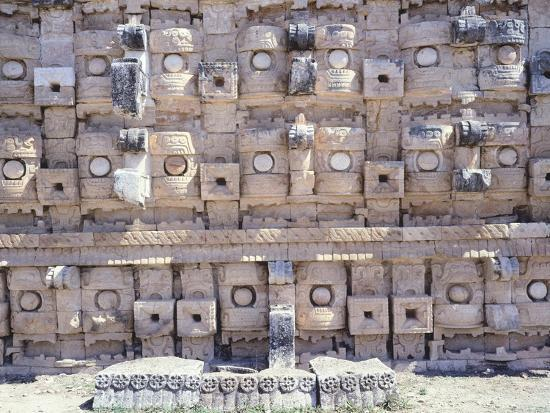 Decorations from the Temple of Codz-Poop Dedicated to the God of Rain Chac in Kabah--Giclee Print