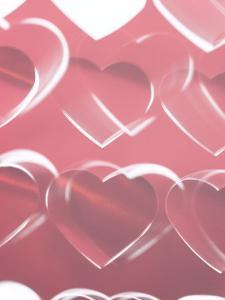 Decorative and Romantic Pink Hearts