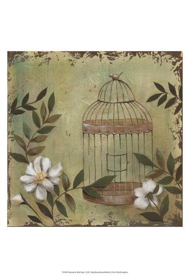 Decorative Bird Cage I-Jade Reynolds-Art Print