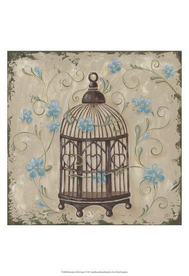 Decorative Bird Cage II-Jade Reynolds-Art Print