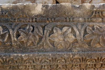 Decorative Carved Border Design, Patara, Turkey--Photographic Print