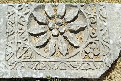 Decorative Carved Floral Design, Xanthos, Turkey--Photographic Print