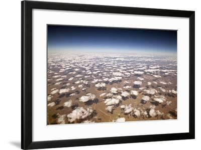 Decorative Clouds over the Arid Deserts of New Mexico.- trekandshoot-Framed Photographic Print