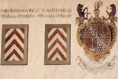 Decorative Crests, Hauterive Cistercian Abbey, Canton of Fribourg, Switzerland--Giclee Print