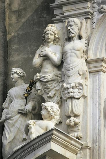 Decorative Detail from Marble Entrance, 1668-1672, Acireale Cathedral, Acireale, Sicily, Italy--Giclee Print