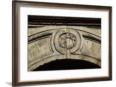 Decorative Detail of Courtyard at Rakoczi Var Castle, Sarospatak, Residence of Ferenc II Rakoczi--Framed Giclee Print