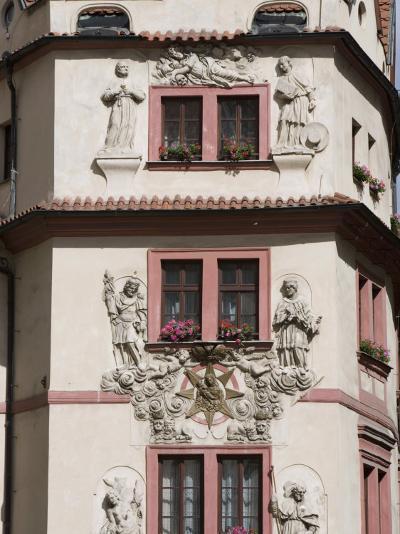 Decorative Facade of House, Karlova, Old Town, Prague, Czech Republic, Europe-Martin Child-Photographic Print