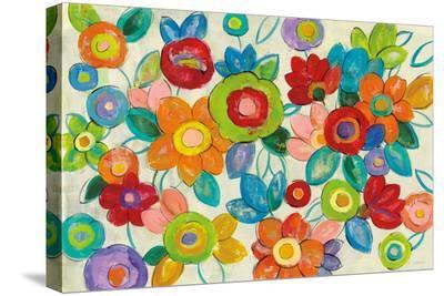 Decorative Flowers Bright-Silvia Vassileva-Stretched Canvas Print