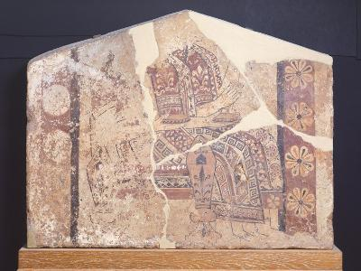 Decorative Fresco of Metope from Temple of Thermos, Greece--Giclee Print