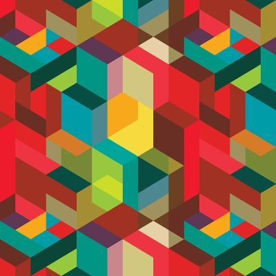 Decorative Geometric and Abstract Elements-emirilen-Art Print