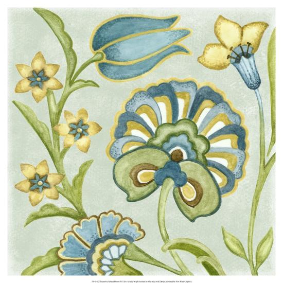 Decorative Golden Bloom II-Sydney Wright-Art Print