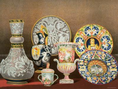 Decorative Italian Earthenware by Marquis Carlo Ginori by J. B. Waring--Photographic Print