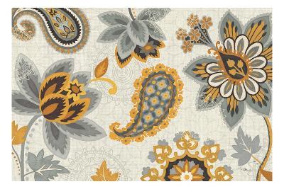 Decorative Nature I Yellow Gray Cream-Pela Design-Premium Giclee Print
