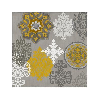 Decorative Ornaments In Gold I-Ellie Roberts-Giclee Print