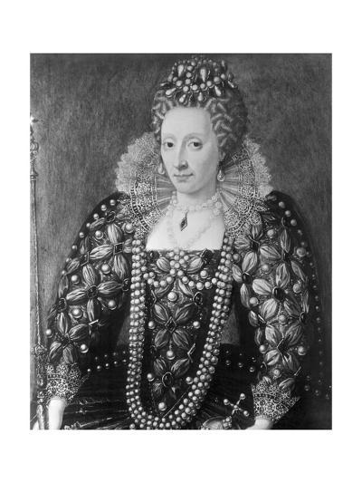 Decorative Painting of Queen Elizabeth I--Giclee Print