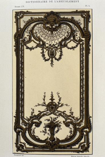 Decorative Panel in Painted and Gilded Wood in Great Hall of Palace in Roquelaure--Giclee Print
