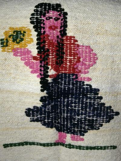 Decorative Pattern of Handmade Fabric Produced in San Miguel, Paraguay, Detail--Giclee Print