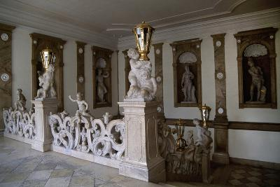 Decorative Putti on Marble Staircase-Georg Raphael Donner-Giclee Print