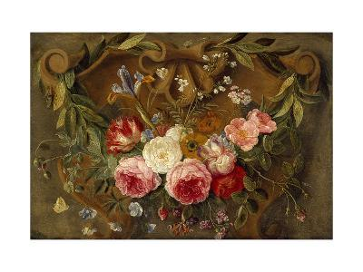 Decorative Still-Life Composition with a Garland of Flowers-Jan van Kessel the Elder-Giclee Print