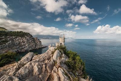 Decorative Swallow's Nest Castle Overlooking the Black Sea.-Yury Dmitrienko-Photographic Print