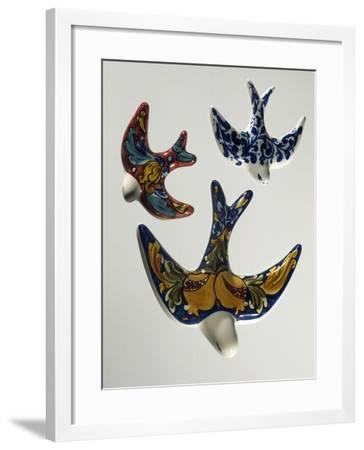 Decorative Sweet Boxes in Shape of Birds, Ceramic--Framed Giclee Print