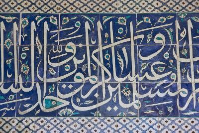 Decorative Tiles in Topkapi Palace, Istanbul, Turkey, Western Asia-Martin Child-Photographic Print
