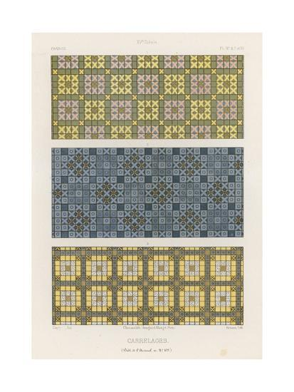 Decorative Tiles of 15th-Century France--Giclee Print