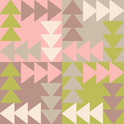 Decorative Vector Poster Geometric Shapes- matryoshka123-Art Print