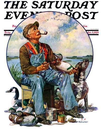 """Decoys,"" Saturday Evening Post Cover, October 5, 1929-J^F^ Kernan-Giclee Print"