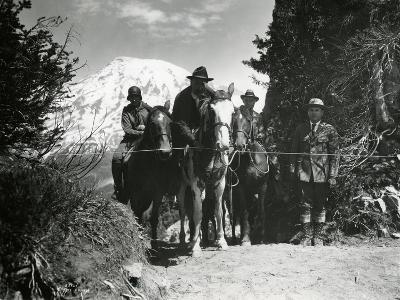 Dedication of Mount Rainier National Park Horse Trail, July 9, 1931-Ashael Curtis-Giclee Print