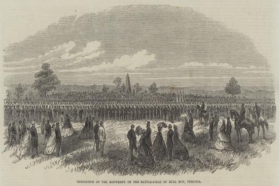 Dedication of the Monument on the Battle-Field of Bull Run, Virginia--Giclee Print