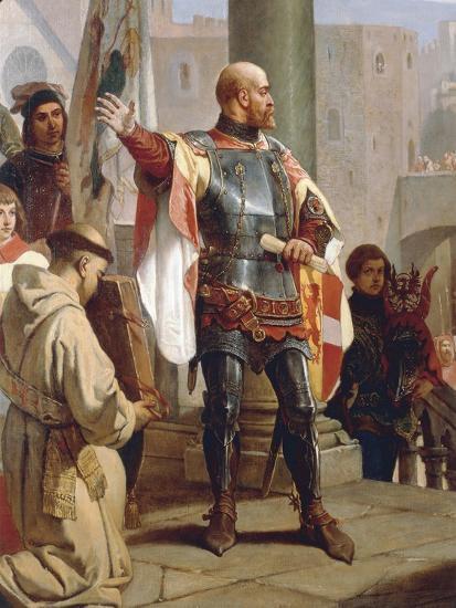 Dedication of Trieste to Austria-Cesare Dell'acqua-Giclee Print