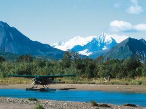 Float Plan on Salmon Stream, Katmai National Park, Alaska, USA by Dee Ann Pederson